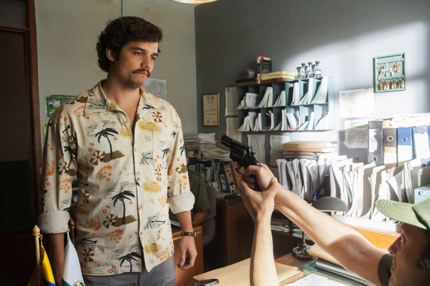 """Wagner Moura, en el papel de Pablo Escobar, para """"Narcos"""", de Netflix."""