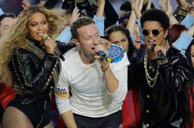 Coldplay, Beyoncé y Bruno Mars en el Super Bowl