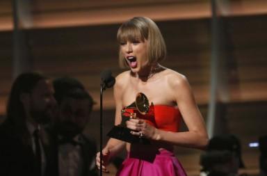 Taylor Swift en los Grammy 2016
