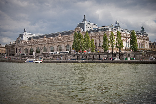 The old railway station and current museum as seen from acros the river.