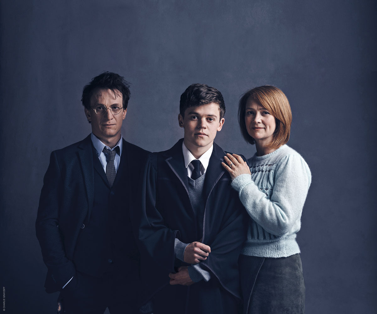 Los actores Jamie Parker, Sam Clemmett y Poppy Miller interpretan en la obra a Harry, Albus y Ginny Potter, respectivamente.