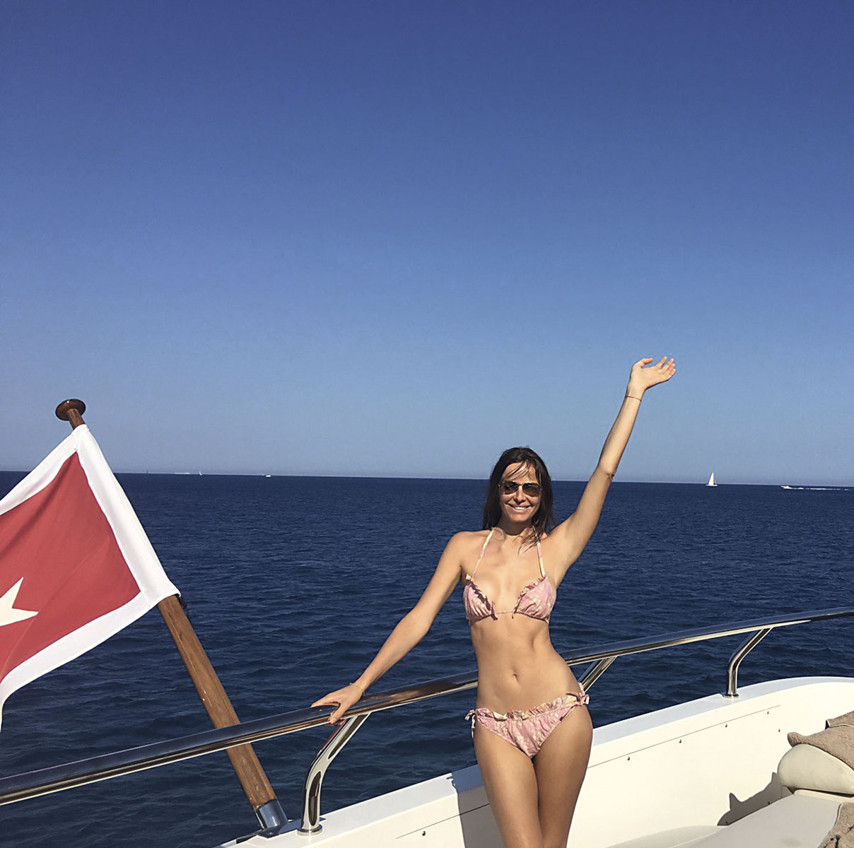 Carolina Parsons en Saint-Tropez.