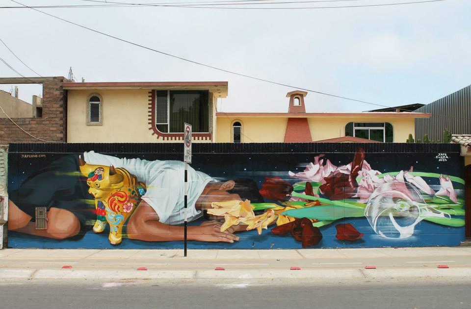 'El sueño', mural realizado en Chorrillos en 2015.