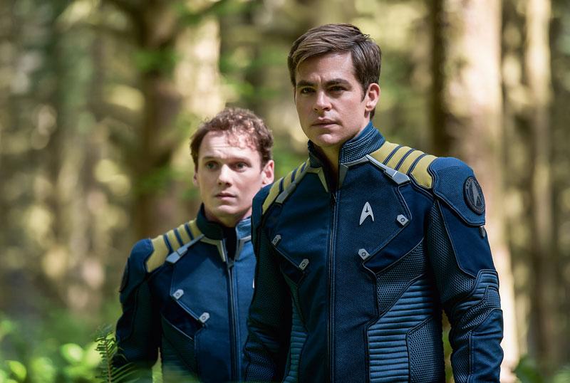 "En su papel de capitán Kirk, en ""Star Trek Beyond""."