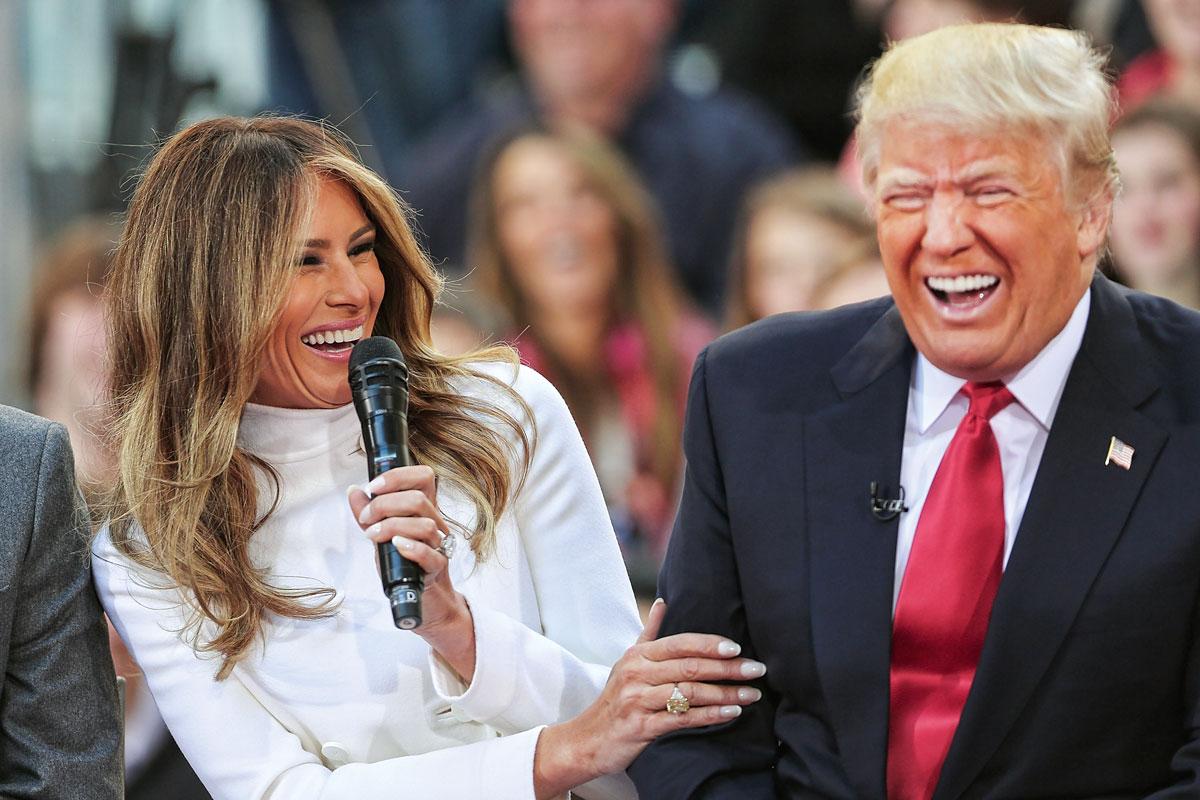 Los esposos Trump compartiendo un momento de complicidad durante las celebraciones de la Convención Republicana.