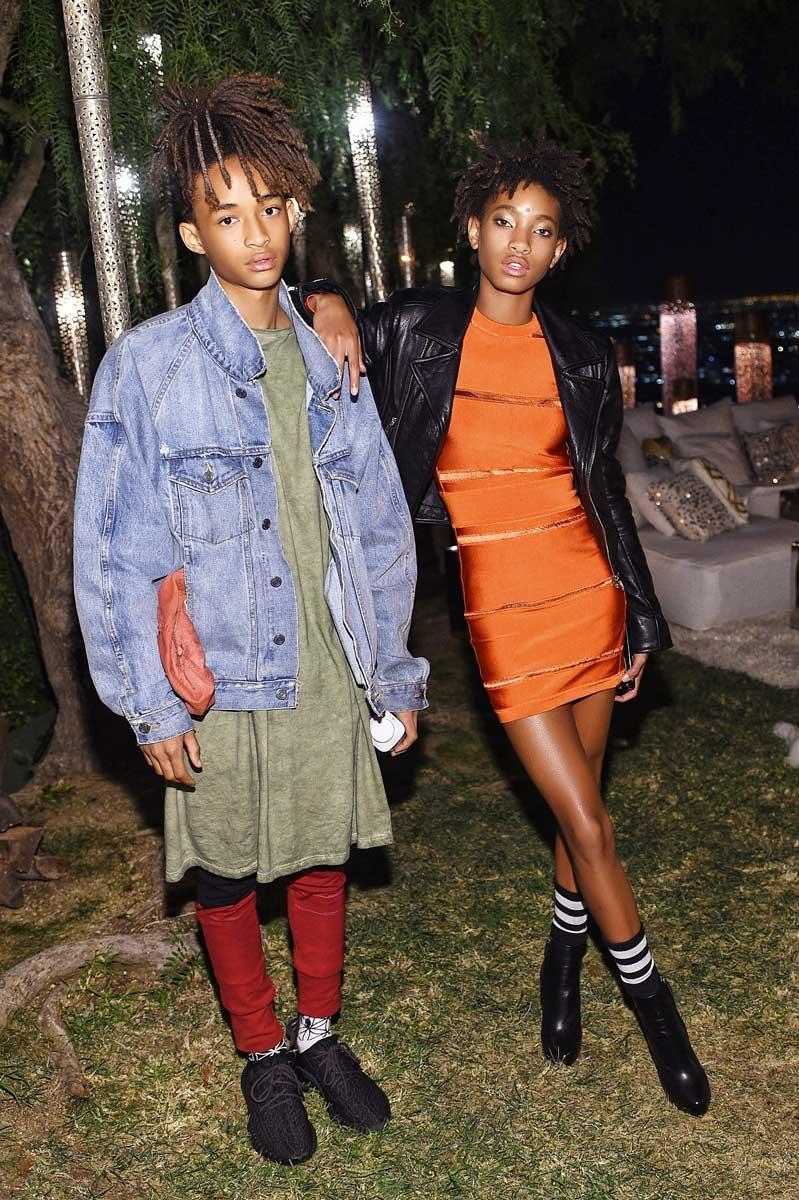 Jaden y Willow Smith, hijos de Will Smith.