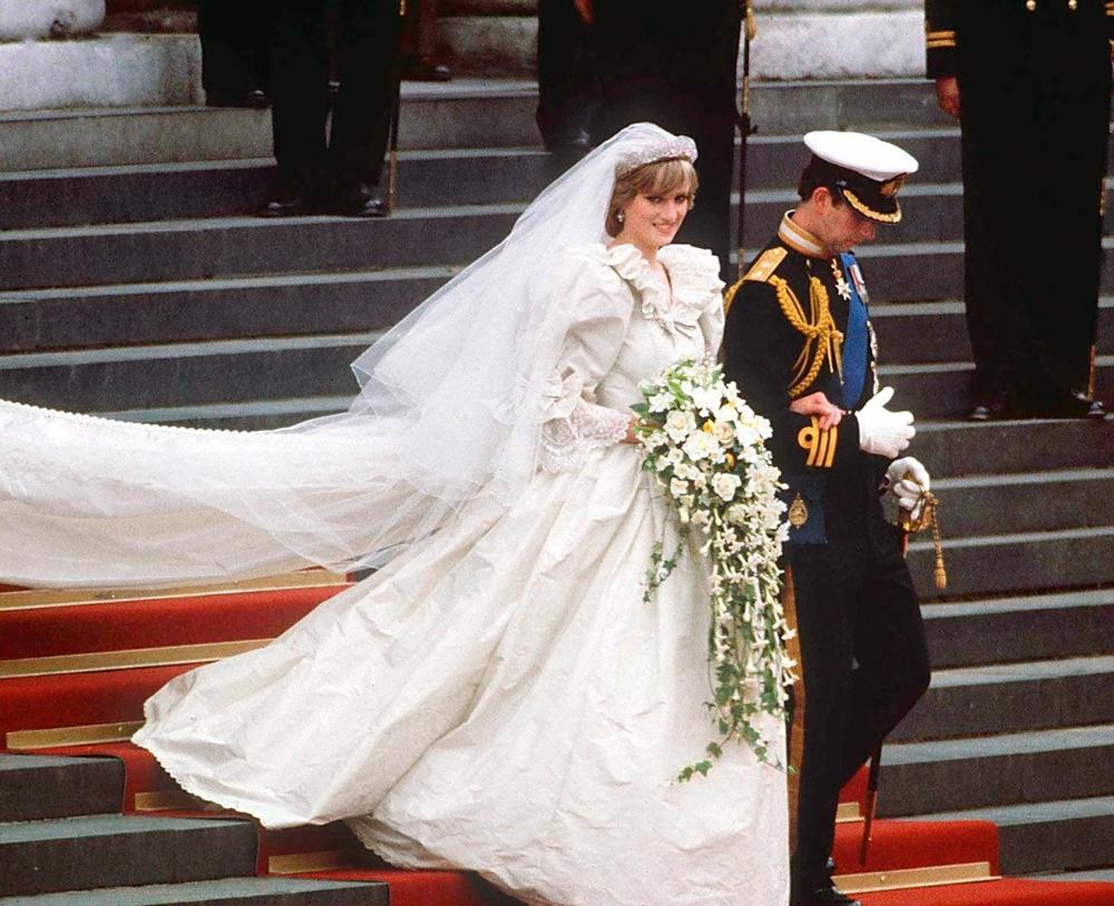 La princesa Diana el día de su matrimonio.