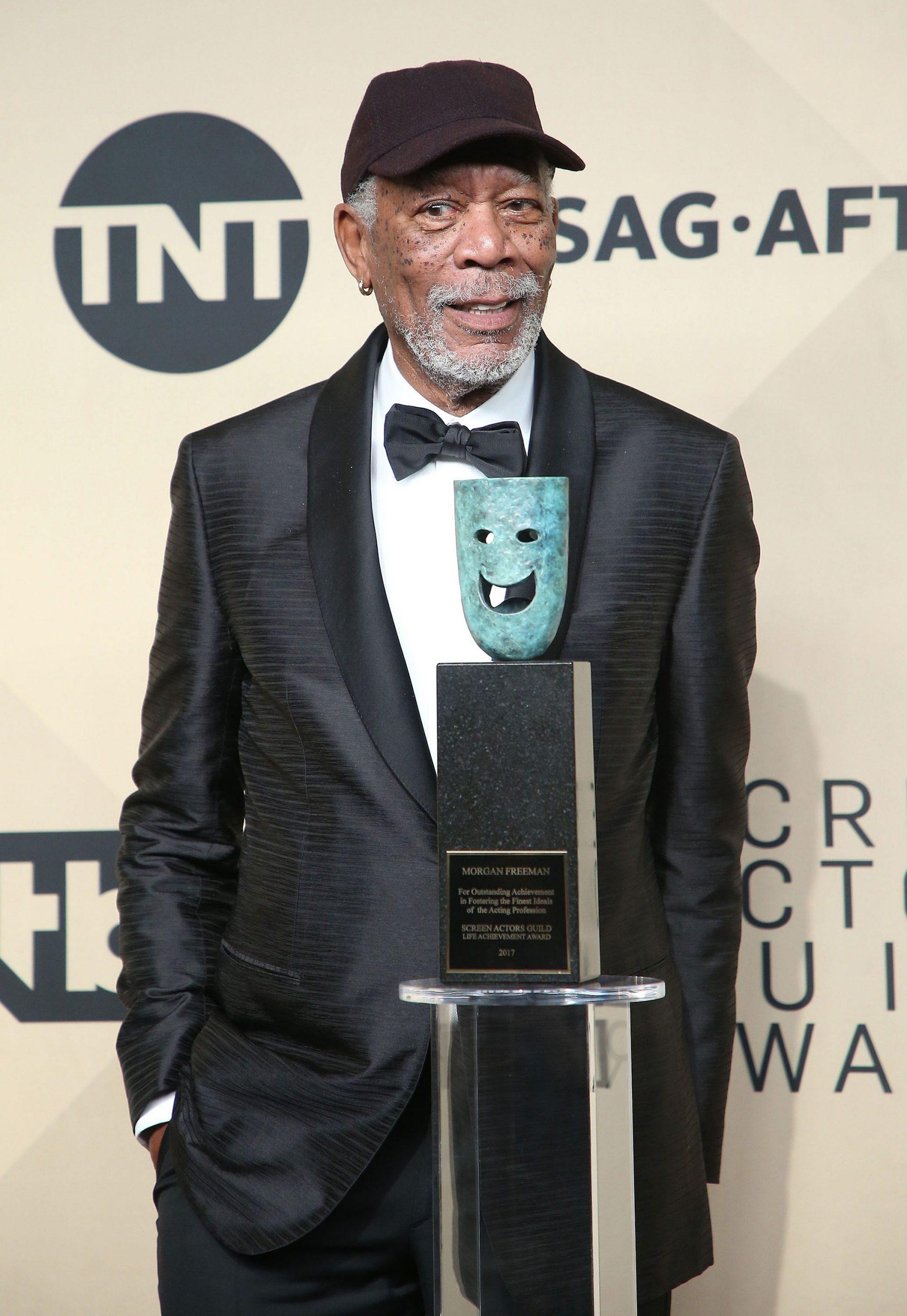Este año, el Sindicato de Actores premió a Morgan Freeman por su trayectoria.