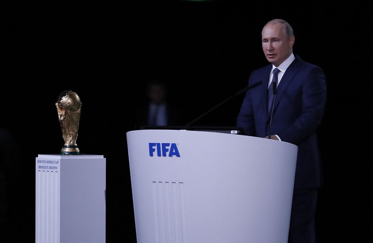 Putin estuvo presente en la inauguración de la Copa del Mundo, en Moscú.