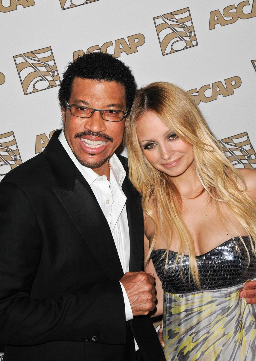 Lionel y Nicole Richie.