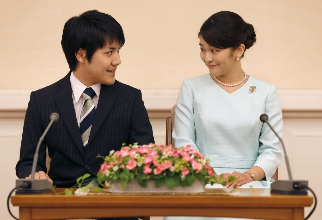 Tokyo, Princess Mako and Kei Komuro press conference