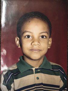 A los seis años, en 1997.