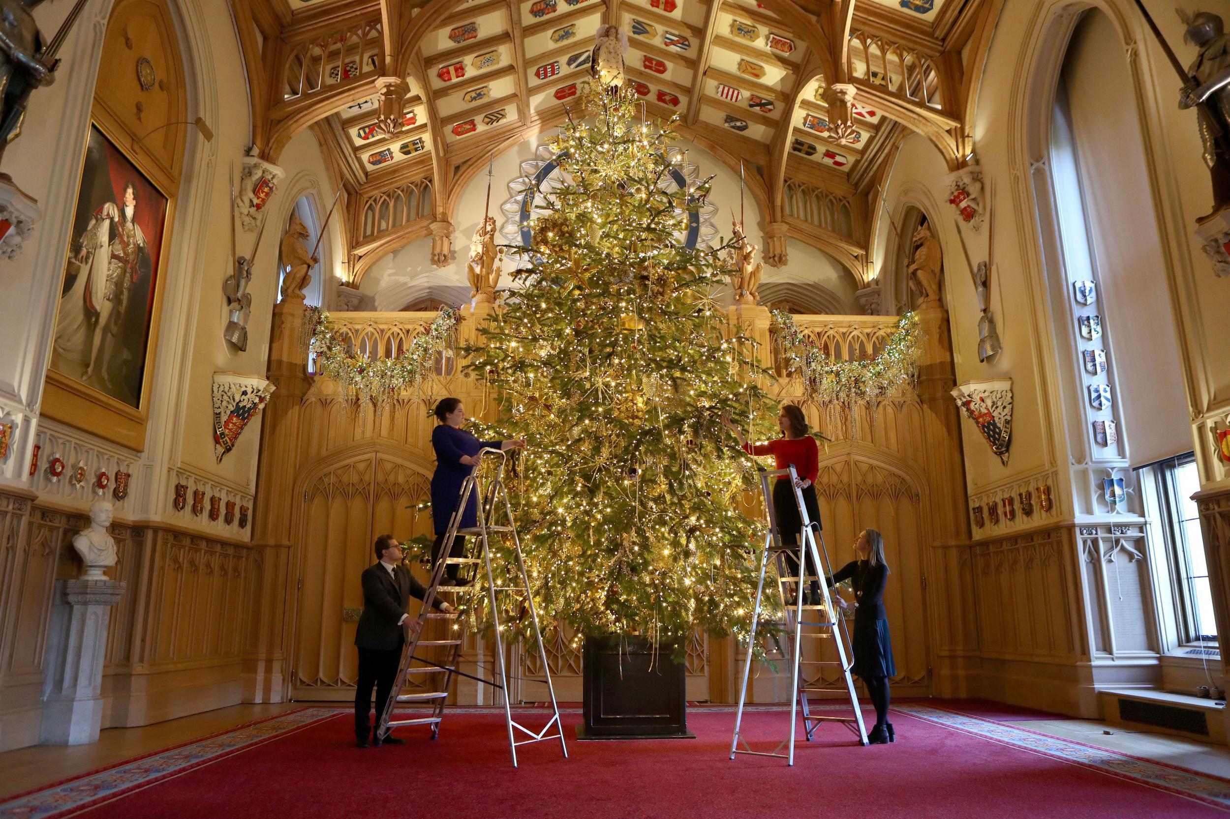 El árbol de Navidad del Castillo de Windsor en 2017.