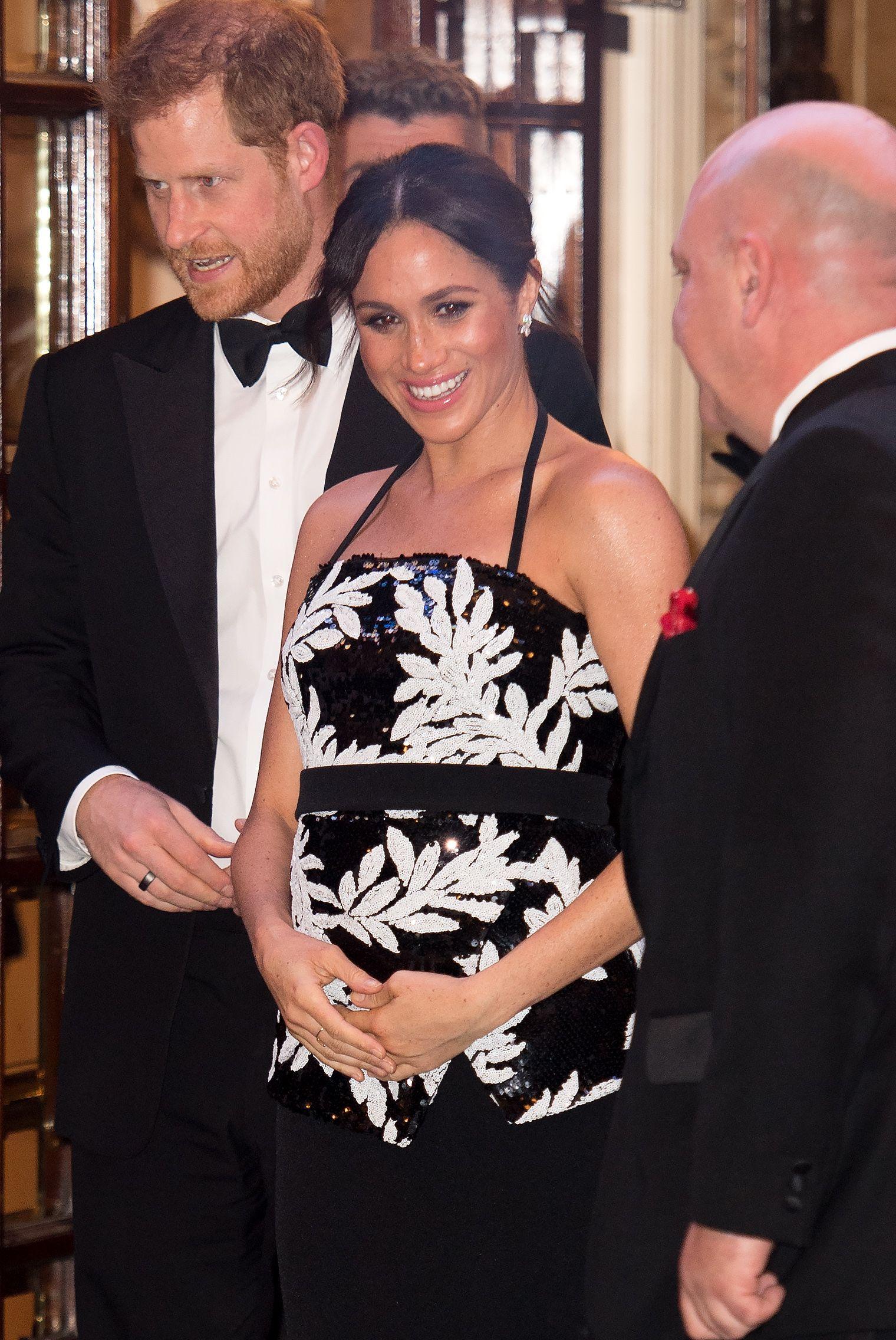 Los duques de Sussex asisten al Royal Variety Performance en el London Palladium.