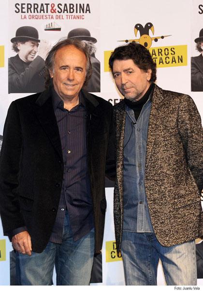 Joan Manuel Serrat y Joaquín Sabina. Foto: Joaquín Sabina – Web Oficia