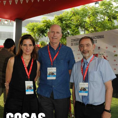 Cristina Puig, Bruce Johnson y Moshe Tatar