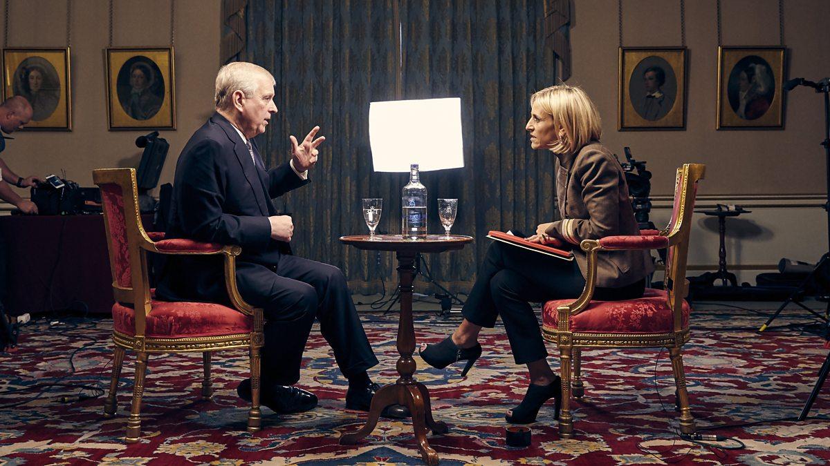 Príncipe Andrew entrevistado en BBC Newsnight por Emily Maitlis