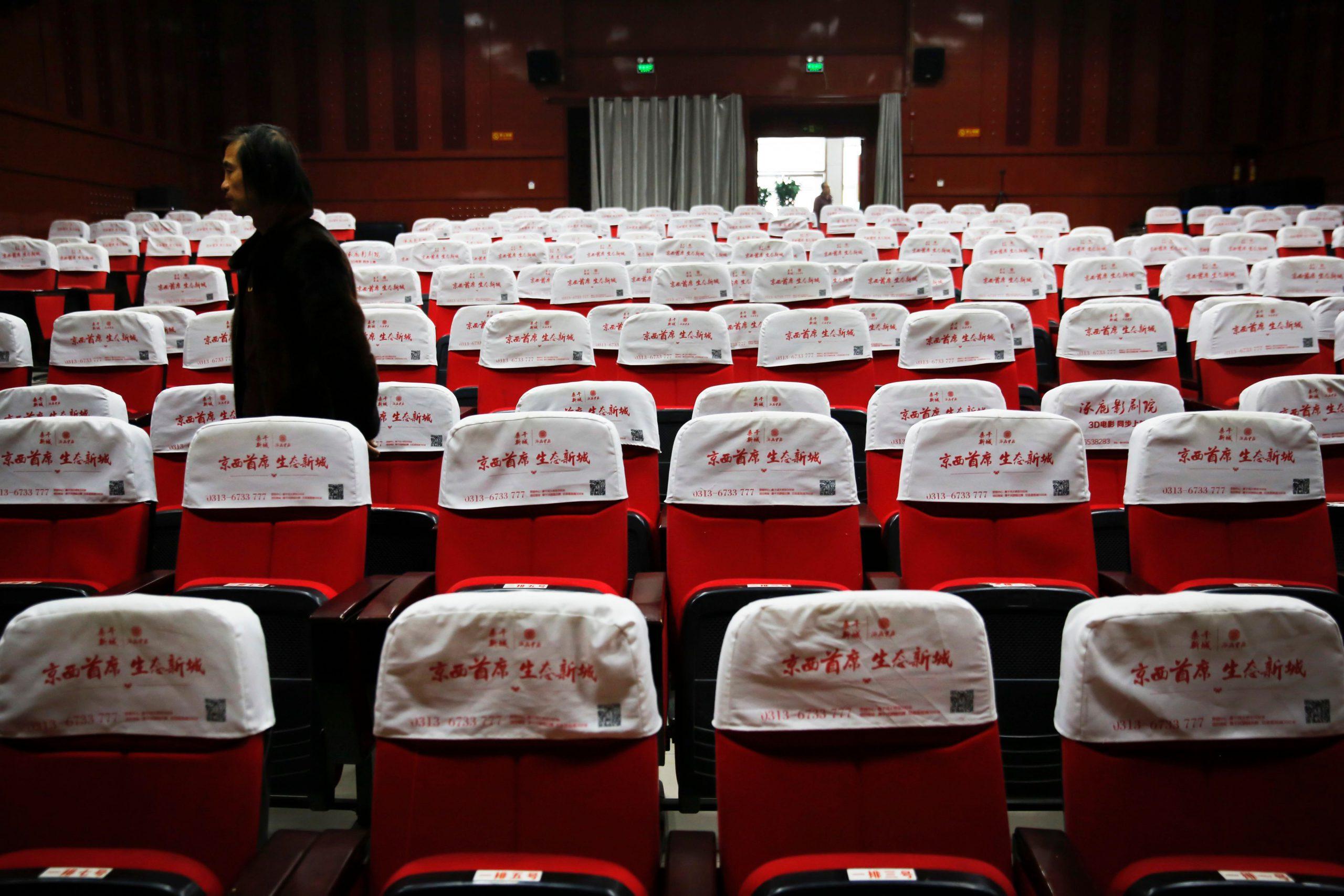 Teatros vacíos en China por el coronavirus