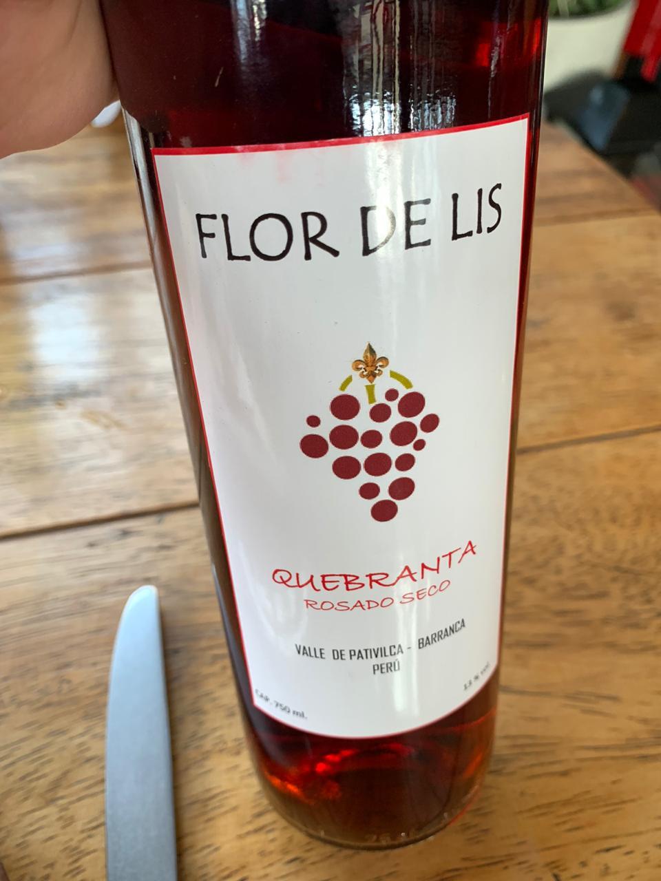 Vino Flor de Lis – Rosado Seco Quebranta