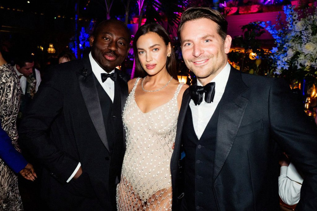 Irina y Bradley, a principios de año, en una fiesta tras la ceremonia de los Bafta.
