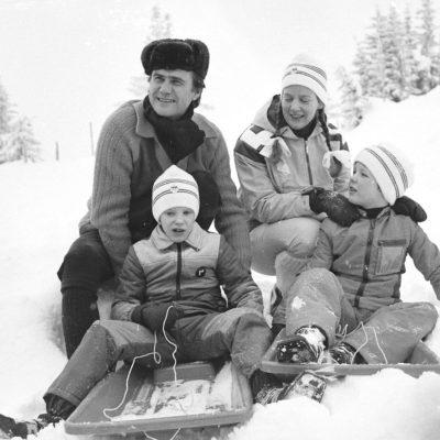 Dronning Margrethe, Prins Joachim, Kronprins Frederik, Prins Henrik, Bobslæder