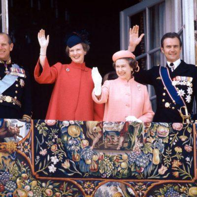 Prins Philip, dronning Margrethe, dronning Elizabeth II, prins Henrik