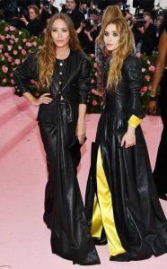 Mary-Kate y Ashley Olsen Alfombra Rosa Met Gala