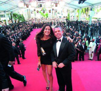 Peruanos en Cannes Jackie Hoffman y Pedro Brescia en la alfombra roja