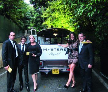 Jacky Gomberoff, Michael Grimberg, Illiana Lolas, Jackie Hoffman y Pedro Brescia., camino al Mystère Party.