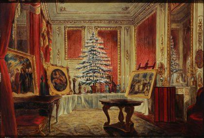 William Corden el Joven muestra el árbol de Navidad de la Reina Victoria en el Castillo de Windsor