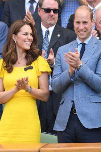 Los Duques de Cambridge en los singles masculinos de Wimbledon.