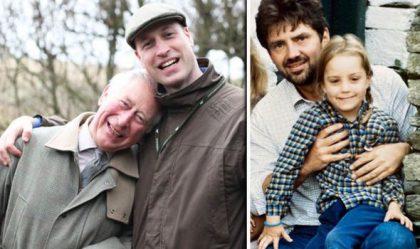 Por el día del padre Kate Middleton publicó fotos de ambos con sus respectivos padres en la cuenta real de Kensington Palace.