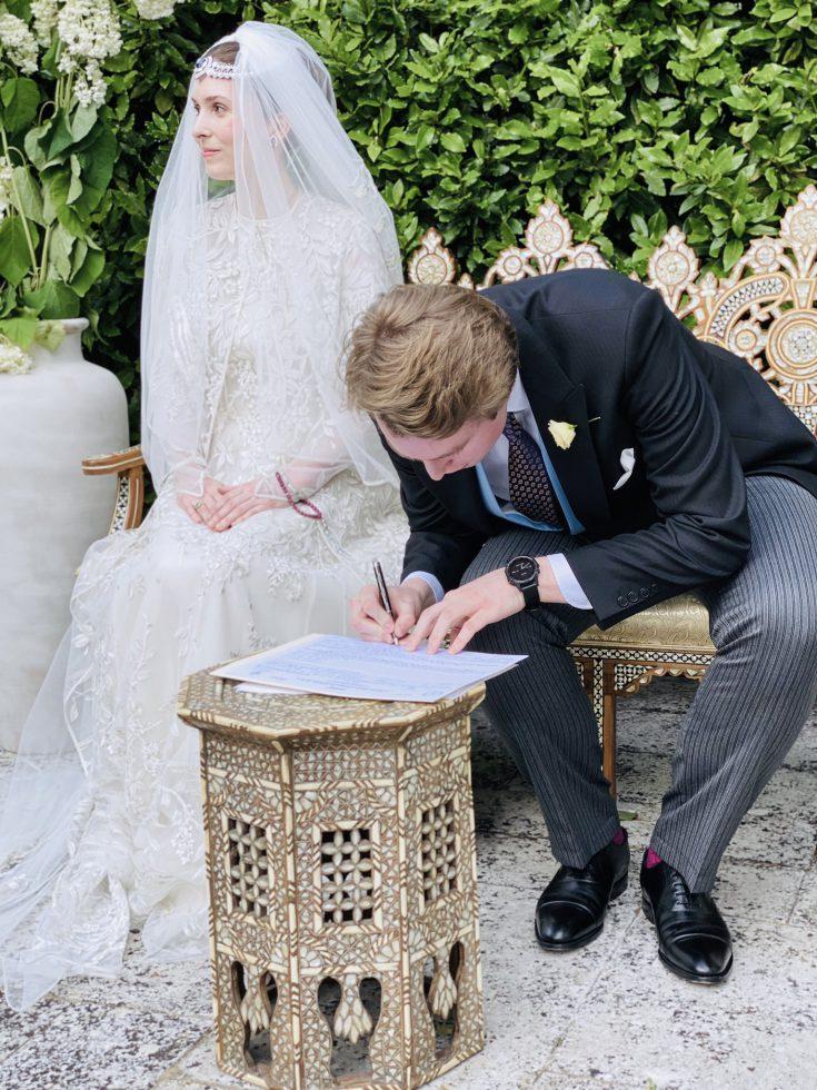princesa Raiyah de Jordania Ned Donovan boda real (2)