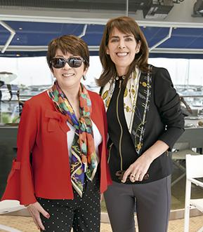 Midori Adrianzén y Marcela Núñez