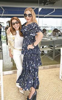 Rossana Chaluja e Irene de Romaña, en el cumpleaños de Mavi Pérez Monteverde