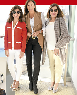 Ximena Monteverde, María Teresa Valdez y Patricia Felman, en el cumpleaños de Mavi Pérez Monteverde
