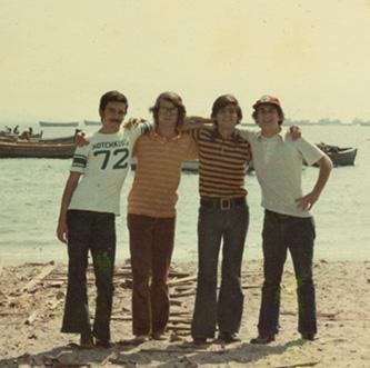 Roberto Bellido, Antonio Palacios, Pepe Tudela y Kike Ballén, en El Chaco.