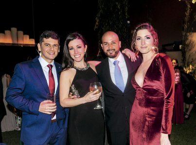 Javier Bazán, Pamela Patiño, Jano Bazán y María José Chávez