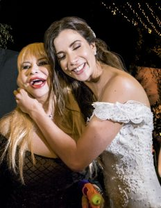 Susy Díaz y Alejandra Chávez, durante la hora loca