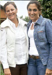 Titi Cacho Sousa y Anilú Vásquez, en una tarde de Caballos de Paso