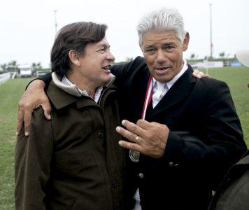 Napoleón Valdez y José Maurer, en el Club Hípico
