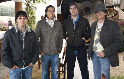 Alonzo Vega, Guillermo Li, Fernando Puga Abad y Luis Alberto Sacilotto