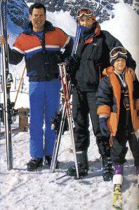 28 de julio en Portillo, 2000. Calixto, María Paz y Diego Romero