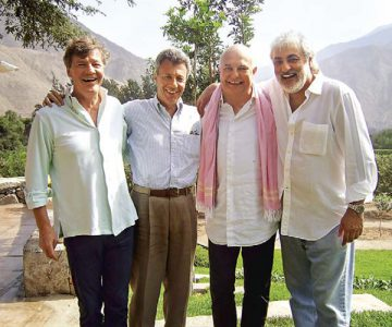 Ernst de Hannover, en Lima, 2007. Ernst de Hannover, Giuseppe Gotti, Rolf Sachs y Majid Yazdy