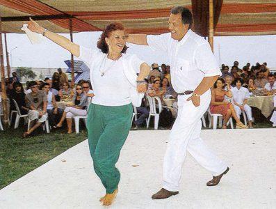 Fiesta trujillana, 2001. Marisa Cedrón y Álvaro Carulla, en el XLI Concurso Nacional de Marinera