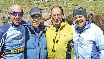 Viaje en bicicleta a Cusco, 2006. Ñato Cauvi, Chopp Delgado, Rafo Valdez y Quique Boisset
