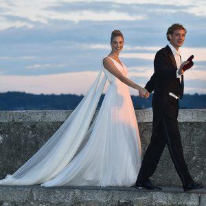 Beatrice Borromeo: vestido de novia Armarni