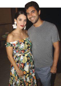 Ariana Santillana y Gonzalo Leigh, en el cumpleaños de Gabriela Ibárcena.