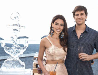 Gabriela Ibárcena y Carlos Valdez, en el cumpleaños de Gabriela Ibárcena.