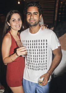 Nicole Calmet y Joseph Velit en el cumpleaños de Gabriel Ibárcena
